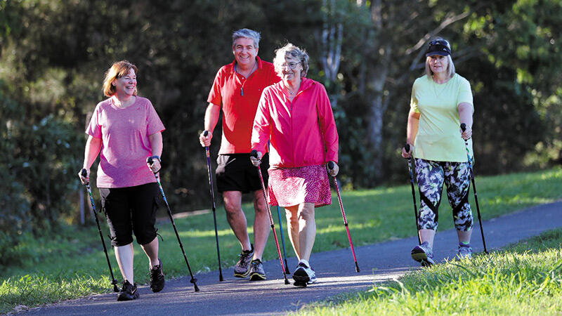 Nordic Walking for Whole Body Fitness