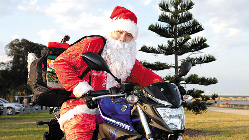 Santa Claus  is Riding into Town