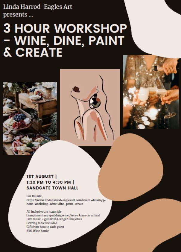 3 HR Wine, Dine, Paint & Create